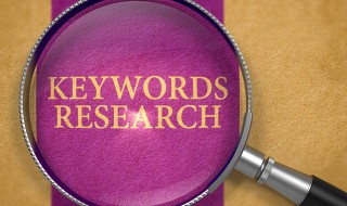 Keywords Research Concept through Magnifier.
