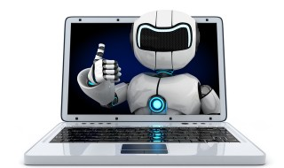 Laptop and robot