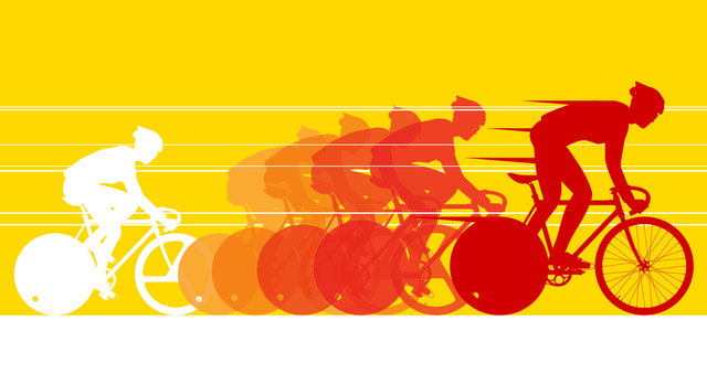 Cyclist in the bicycle race