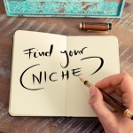 Handwritten text FIND YOUR NICHE